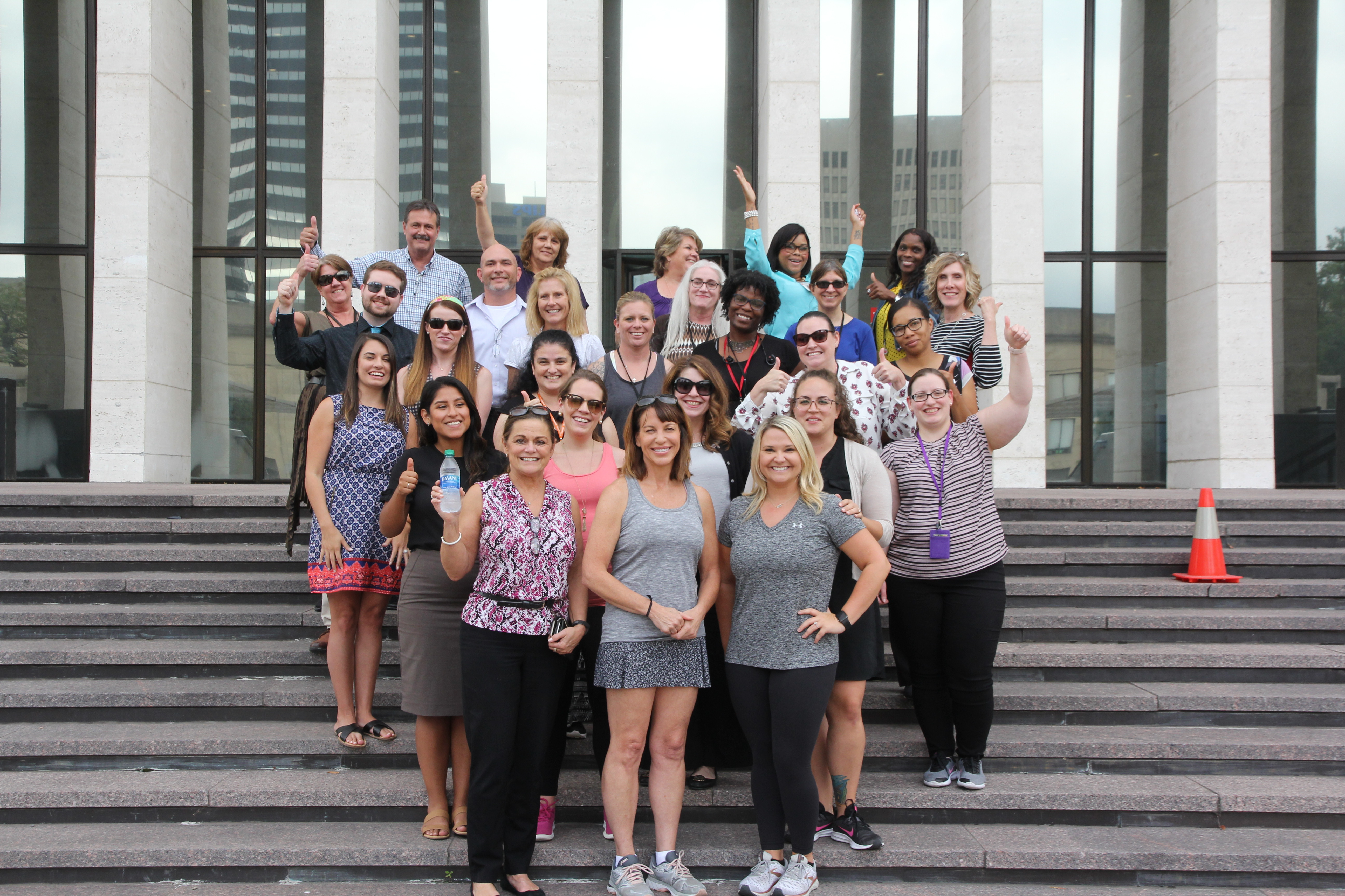 General Services' new DGS Cares Planning Team hosted a walk with Commissioner Branscom in recognition of Women's Health & Fitness Day. The entire group started and finished together, walking 1.3 miles in 30 minutes around downtown.