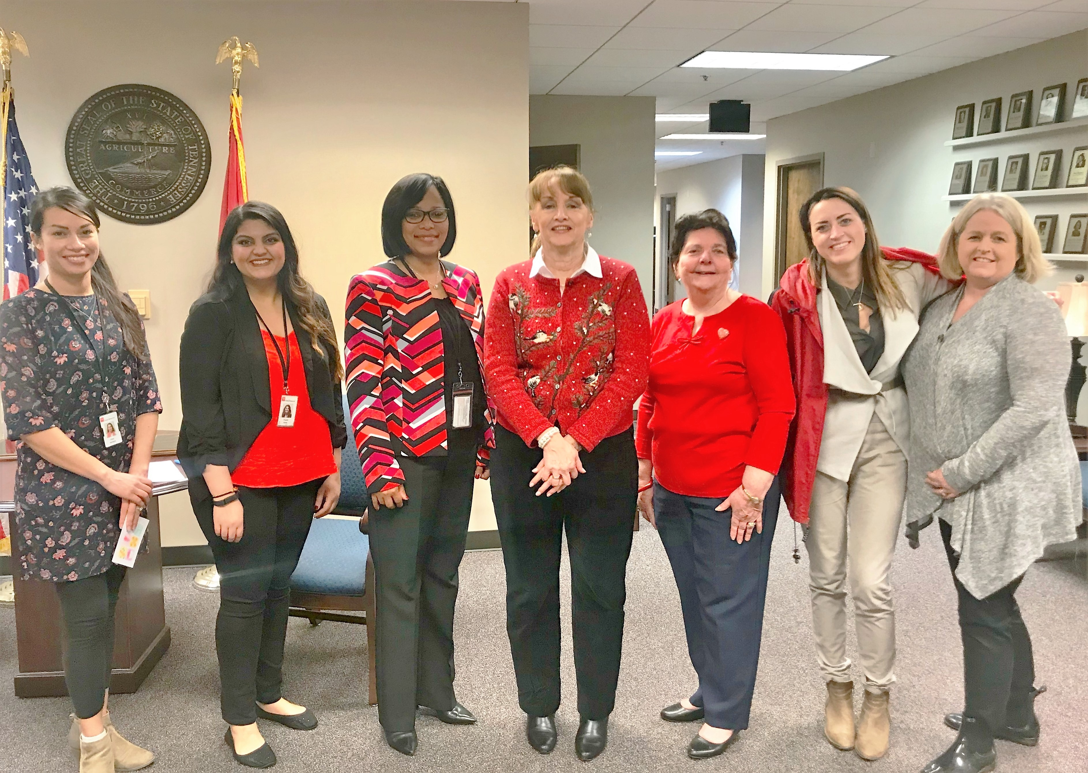 The Department of Human Resources hosted a 15-minute wellness walk to raise awareness about heart disease and stroke. Pictured is the DOHR Wellness Council and Commissioner Hunter.