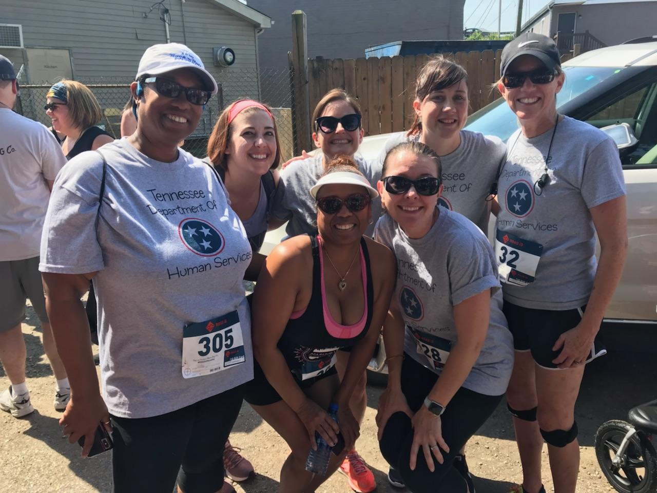 Employees from the Department of Human Services participated in a run for the Dream Center.