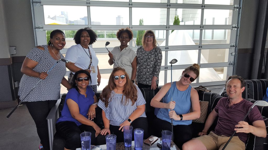 Some employees from the Department of Human Services met up at Top Golf for a healthy, fun team-building exercise.