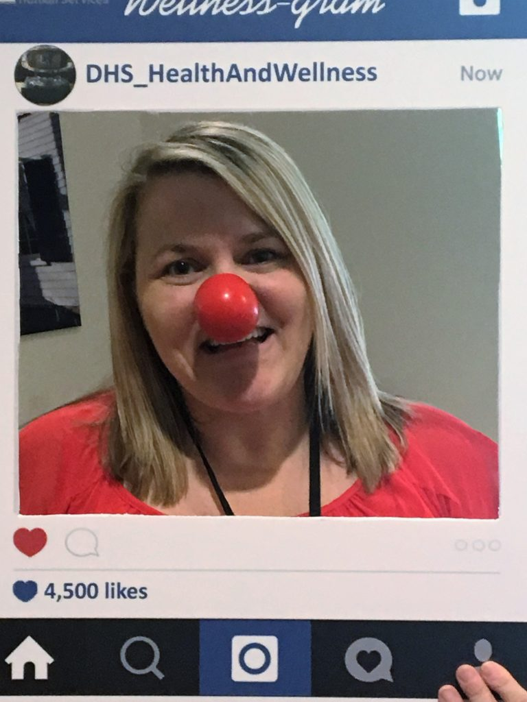 The Department of Human Services raised awareness for Red Nose Day on May 24.