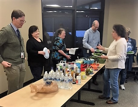 The Department of Human Services held a healthy potluck for their regular Salad Club.