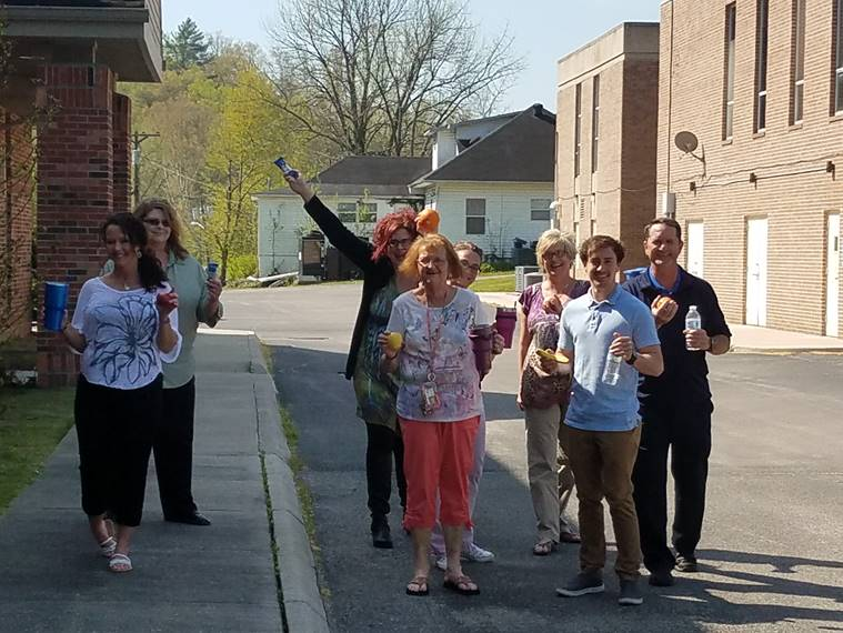 Employees from various Department of Human Services offices have been walking and staying hydrated!