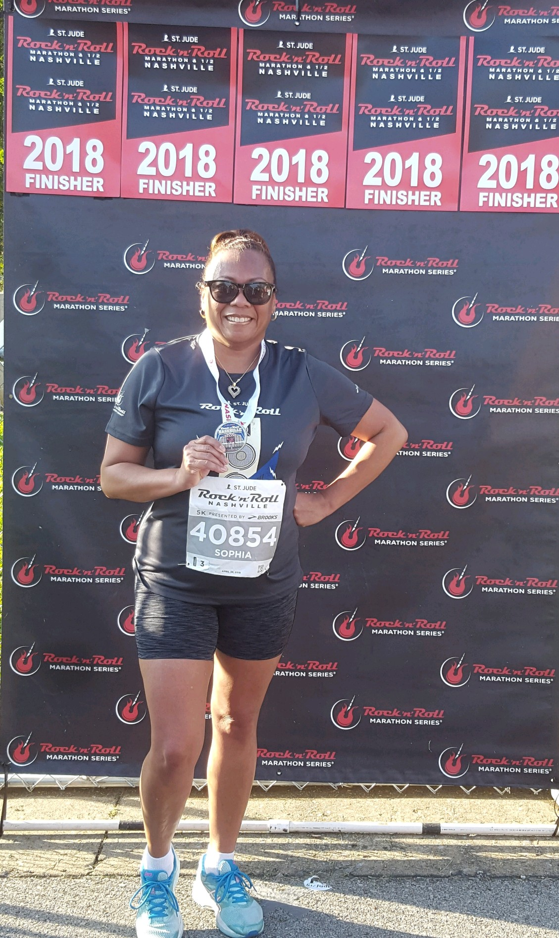 Sophia Young-McAdoo from the Department of Human Services participated in the Rock n Roll Marathon. Congrats!