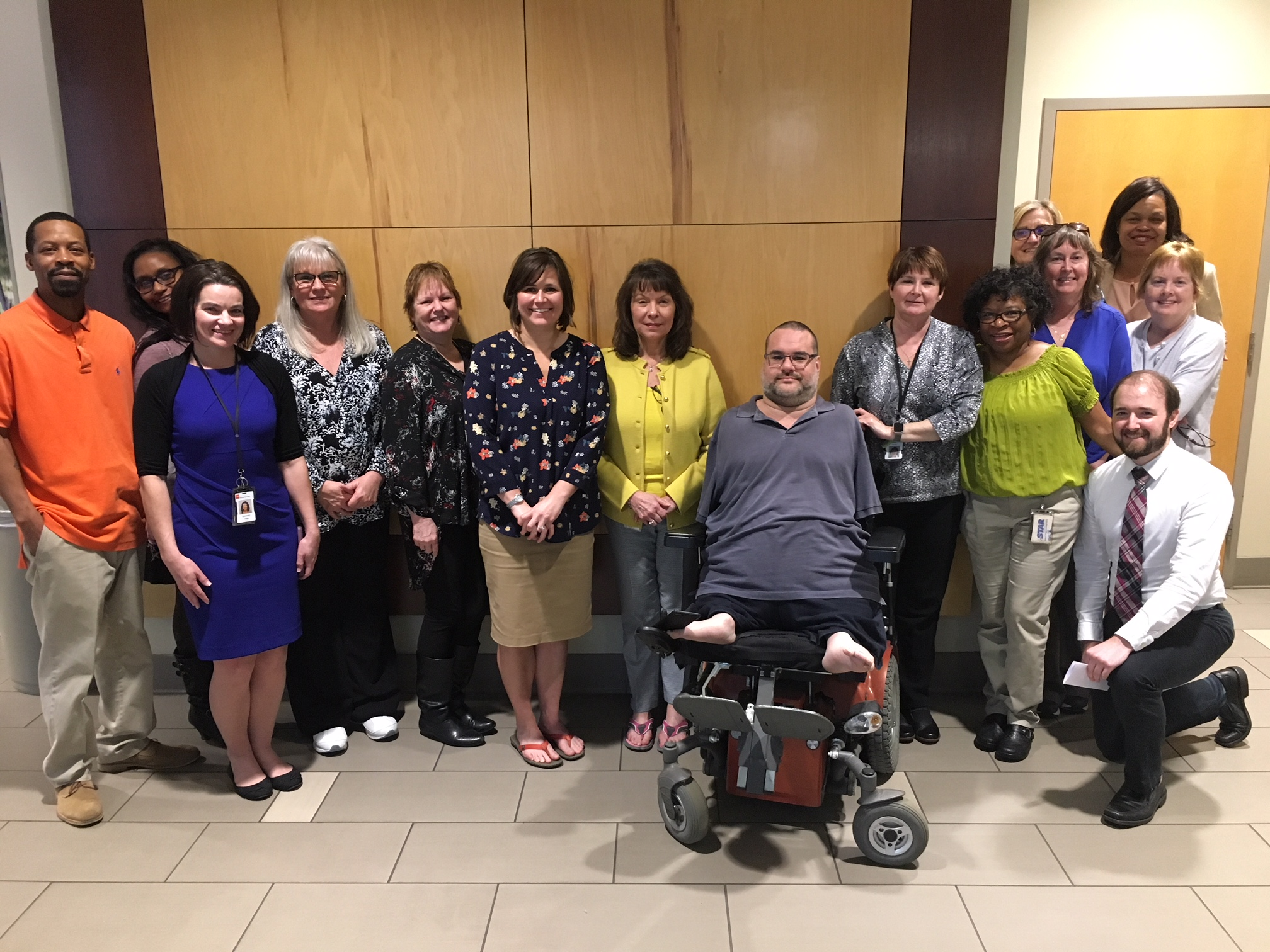 Employees from the Division of Rehabilitation Services at the Department of Human Services recently participated in a Walk Around the Block Challenge.