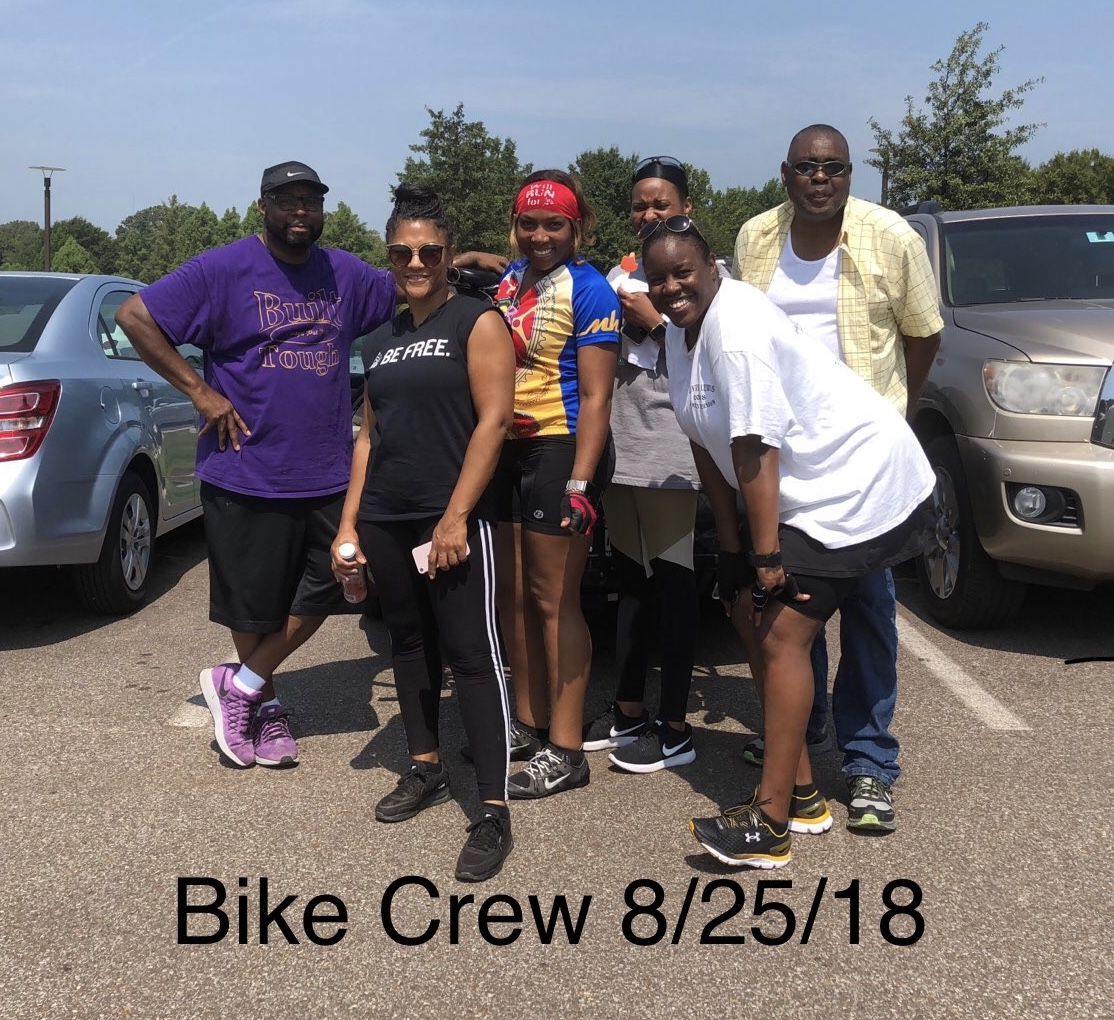 Shelby Fitters at the Department of Human Services recently hosted a health and wellness kick-off event, and some participated in a bike run.