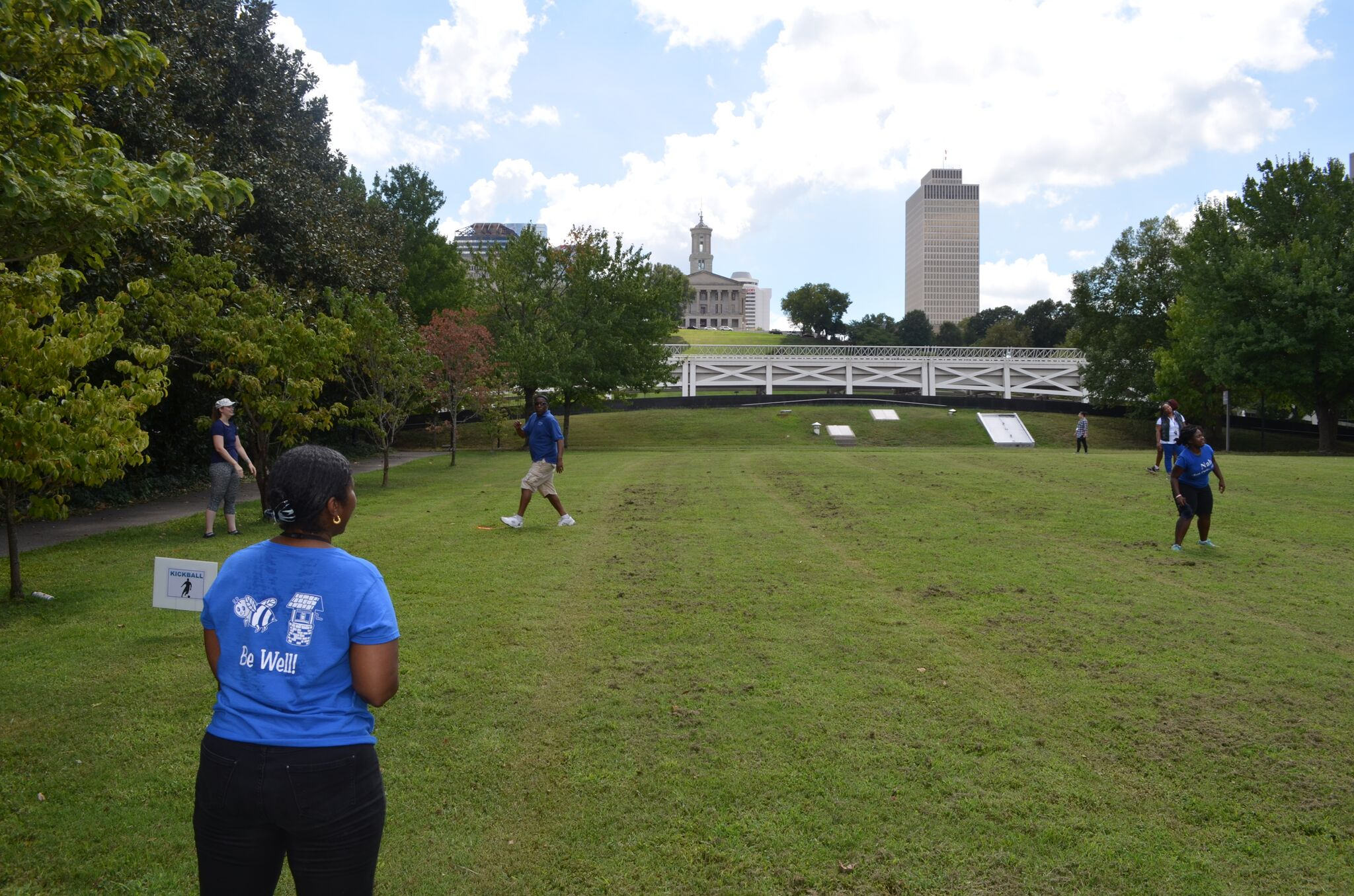 The Wellness Council from the Department of Human Services hosted a Fun Fitness Friday event.