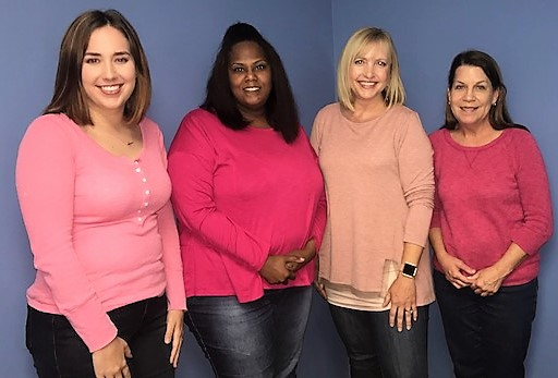 Employees from the Department of Human Services Winchester office wore pink for breast cancer awareness month.