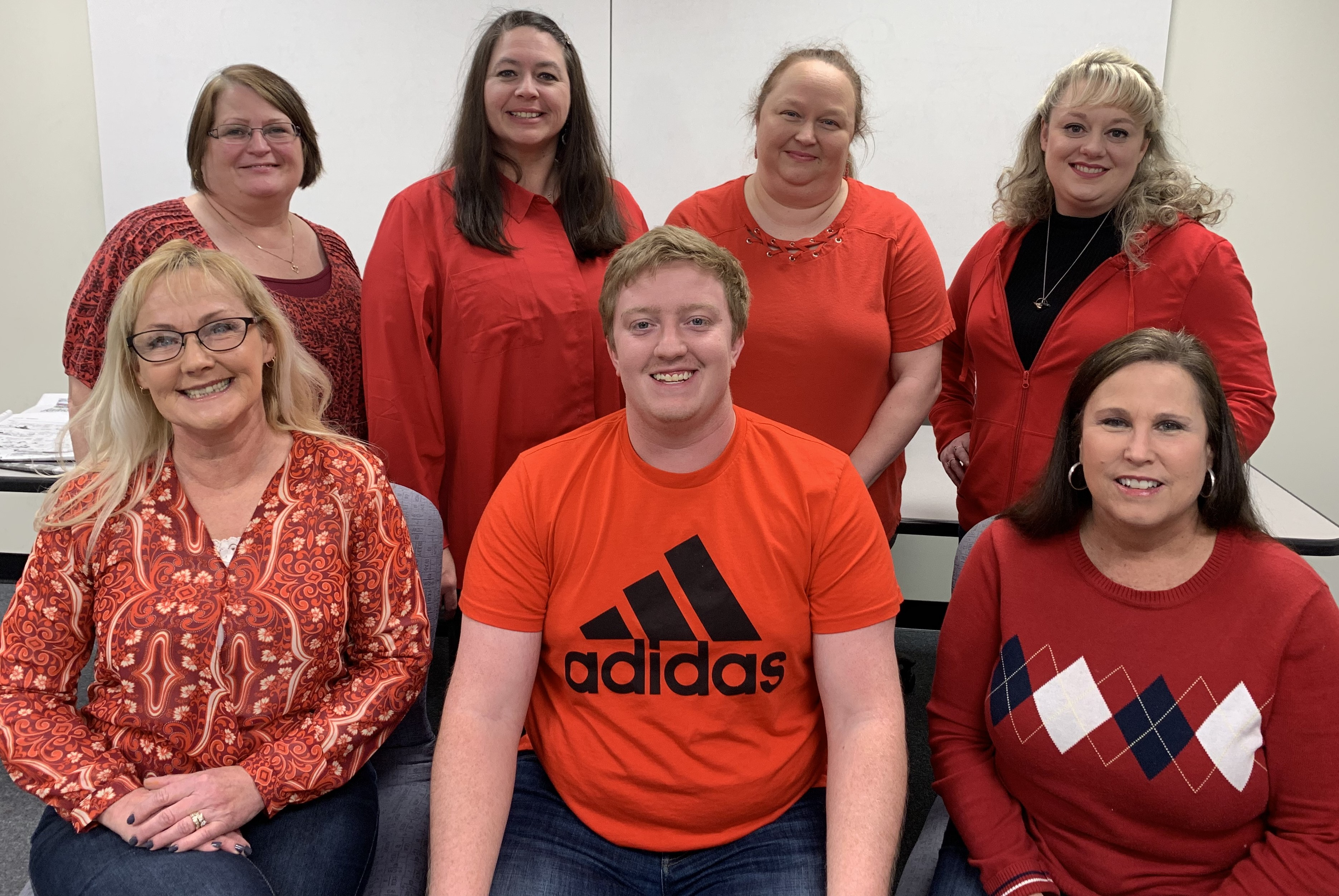 Carter County employees dressed in red and brought in heart healthy snacks in recognition of American Heart month.