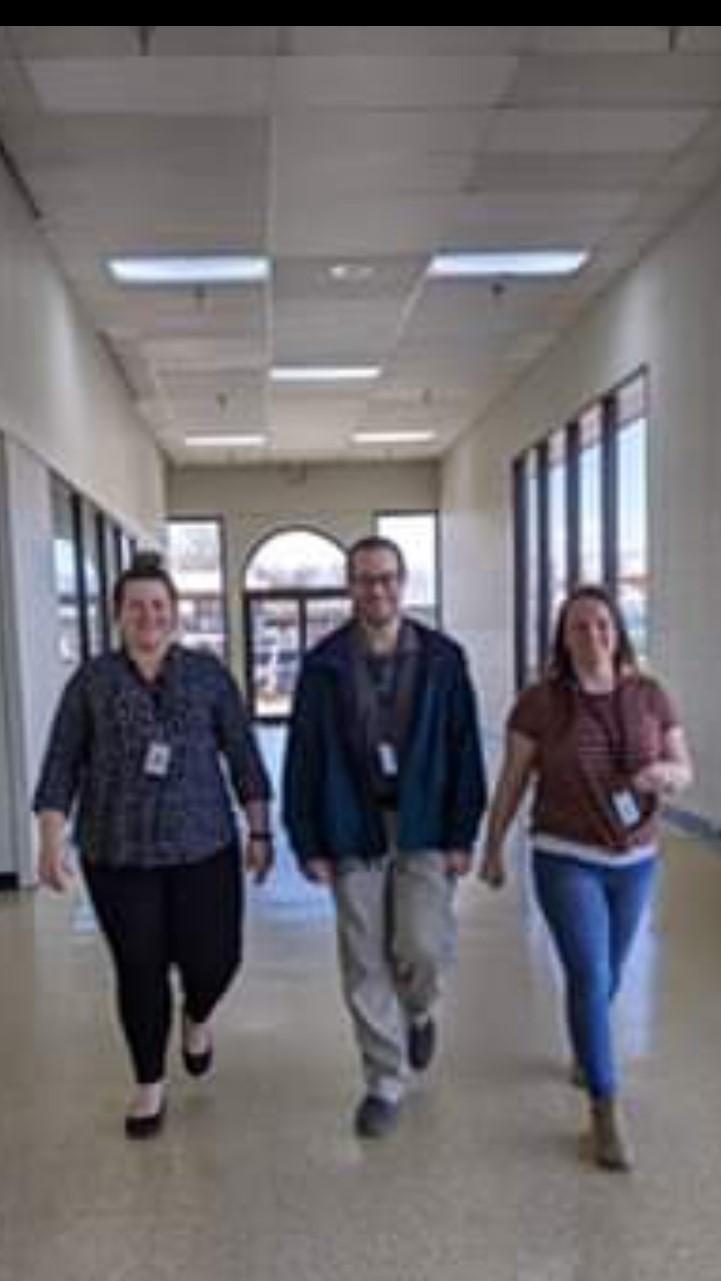 DHS Campbell County Lafollette office employees taking a group walk.