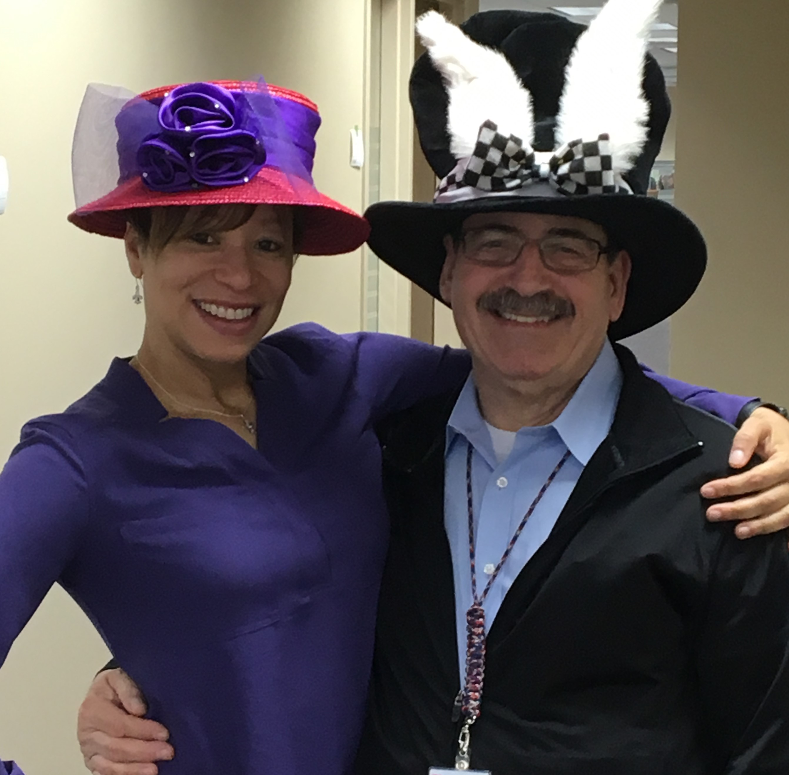 "DHS recently hosted ""crazy hat day."""