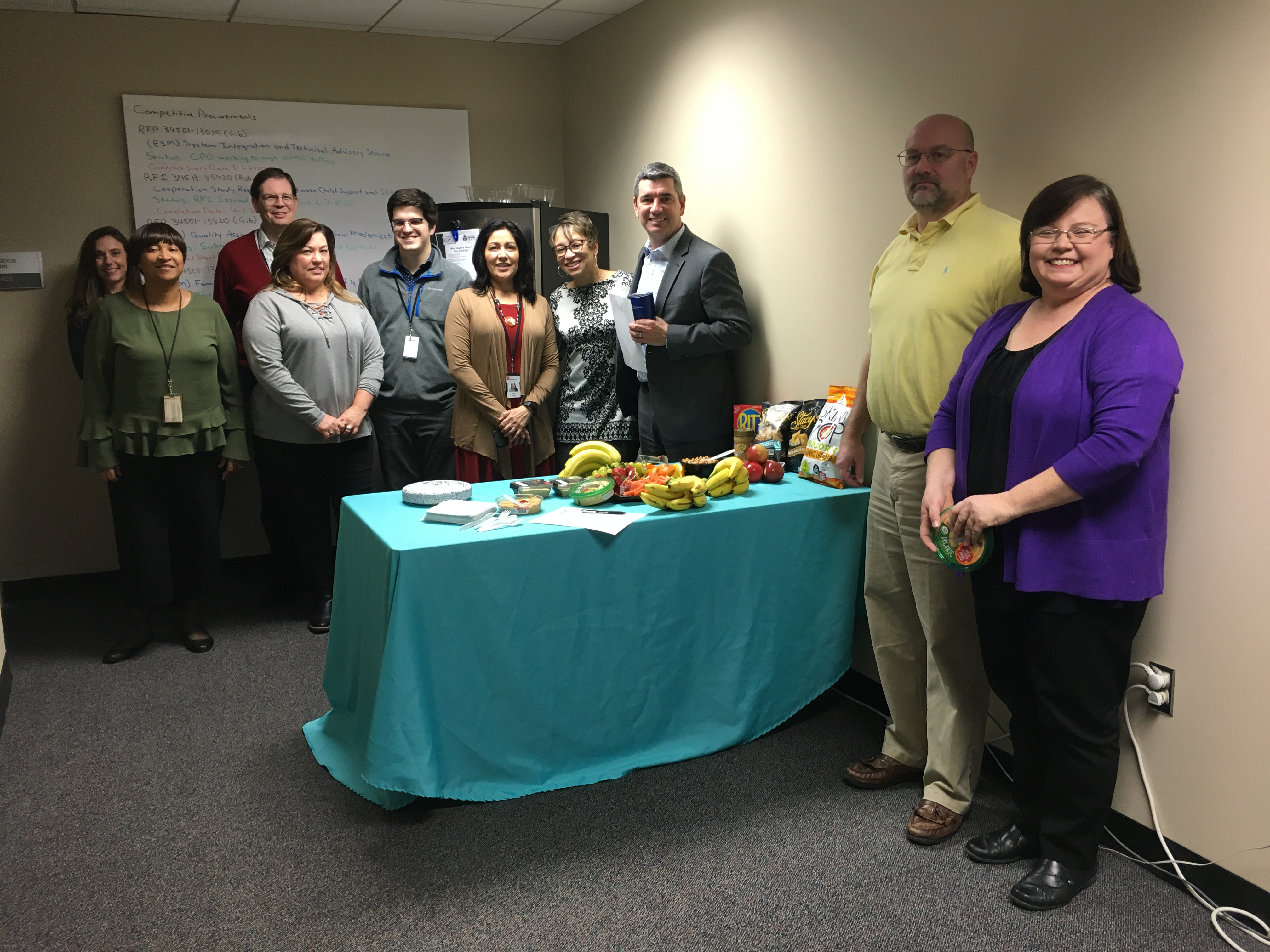 DHS held a healthy snack event.