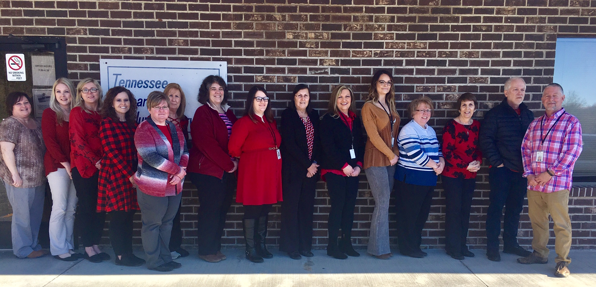 Employees in Claiborne County participated in a heart healthy wellness activity.