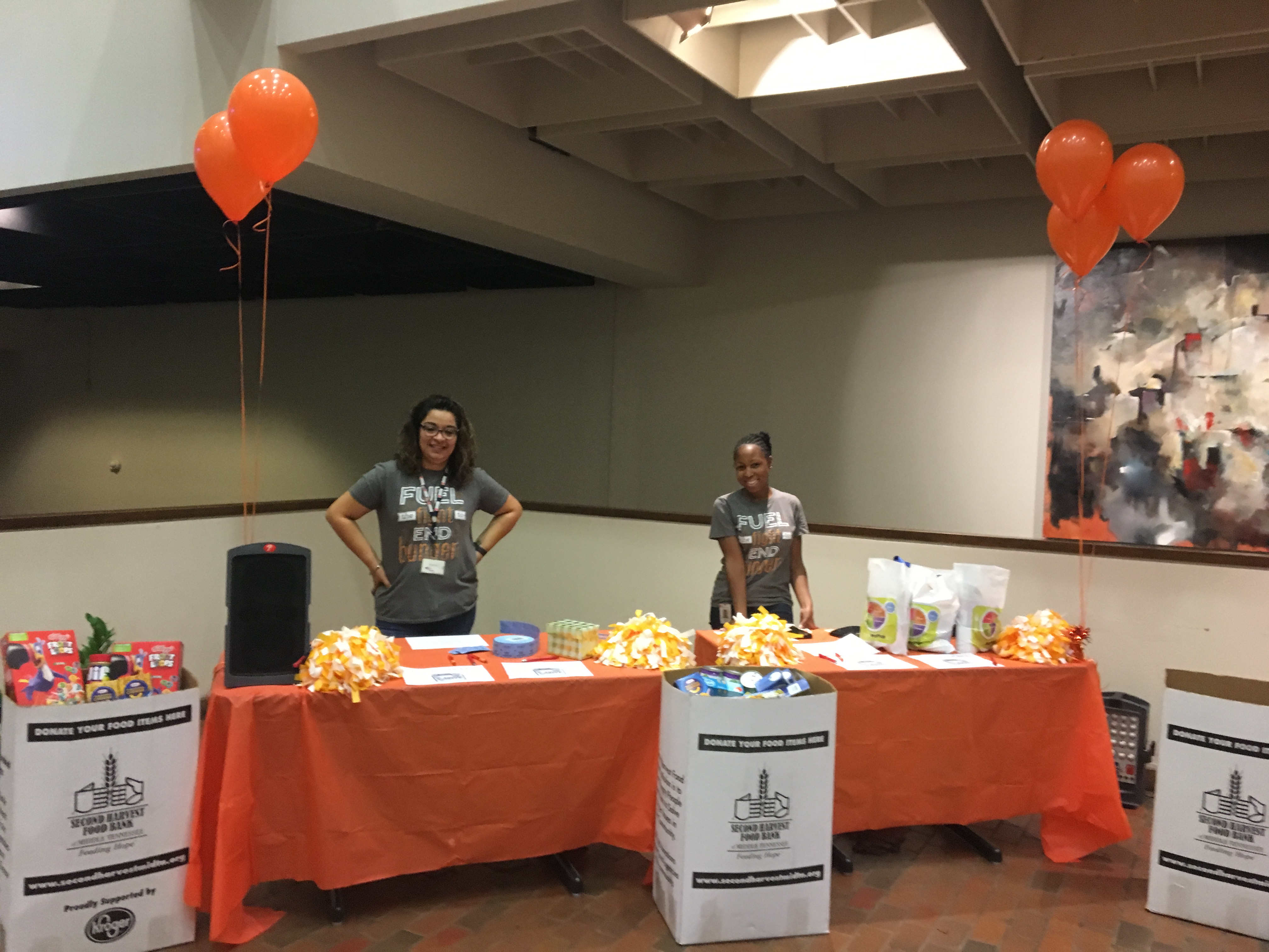 DHS hosted a Hunger Action & Wellness Walk in support of Hunger Action Month. Participants wore orange, walked to raise awareness about food insecurity in Tennessee and donated non-perishable food items.