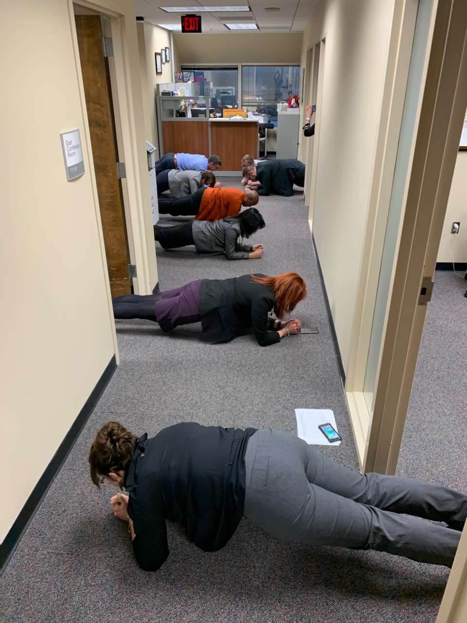 DHS employees finished Planksgiving strong!