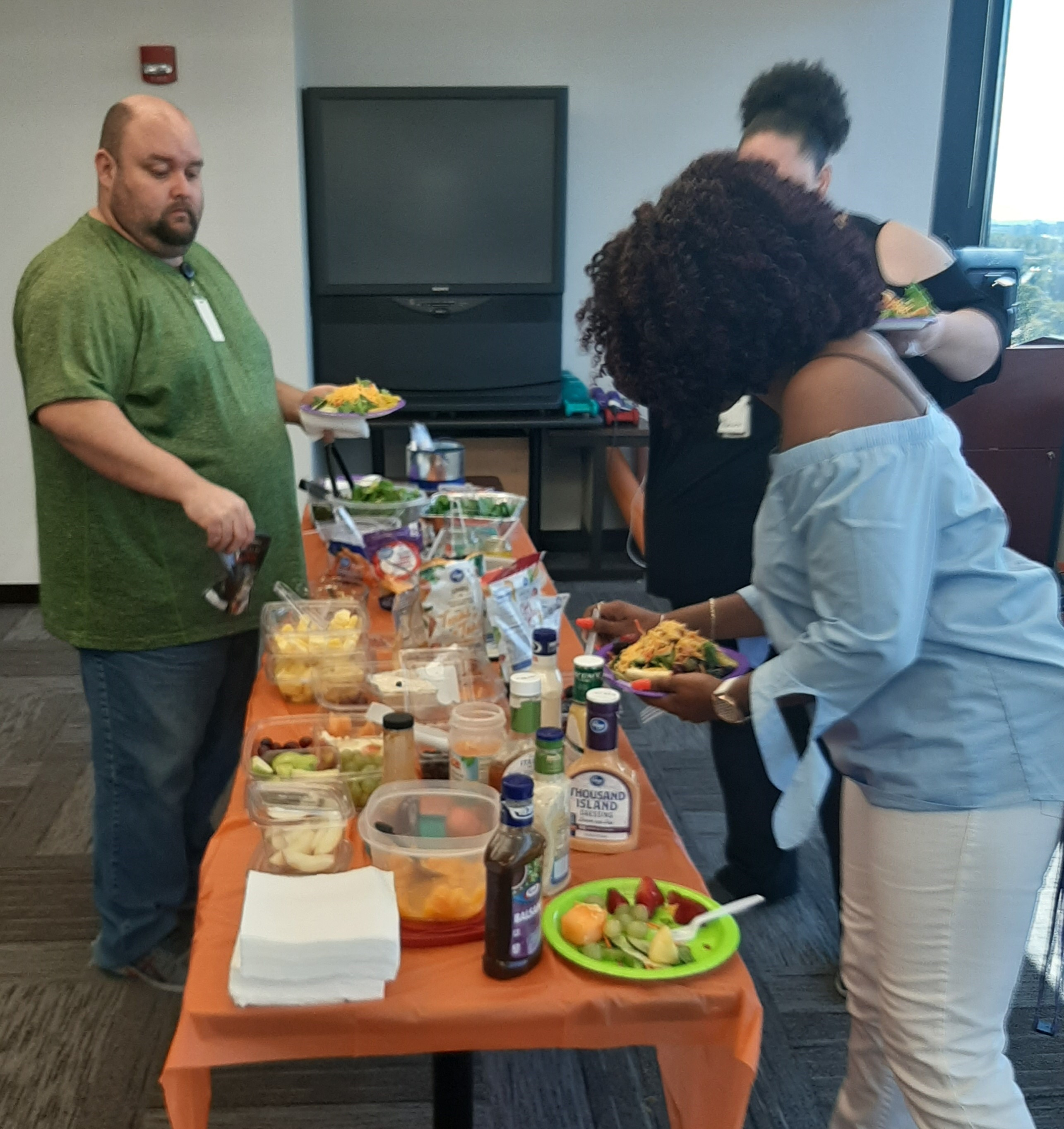 DHS recently hosted a Build a Salad Day. 20 people attended the event. They discussed wellness and nutrition.