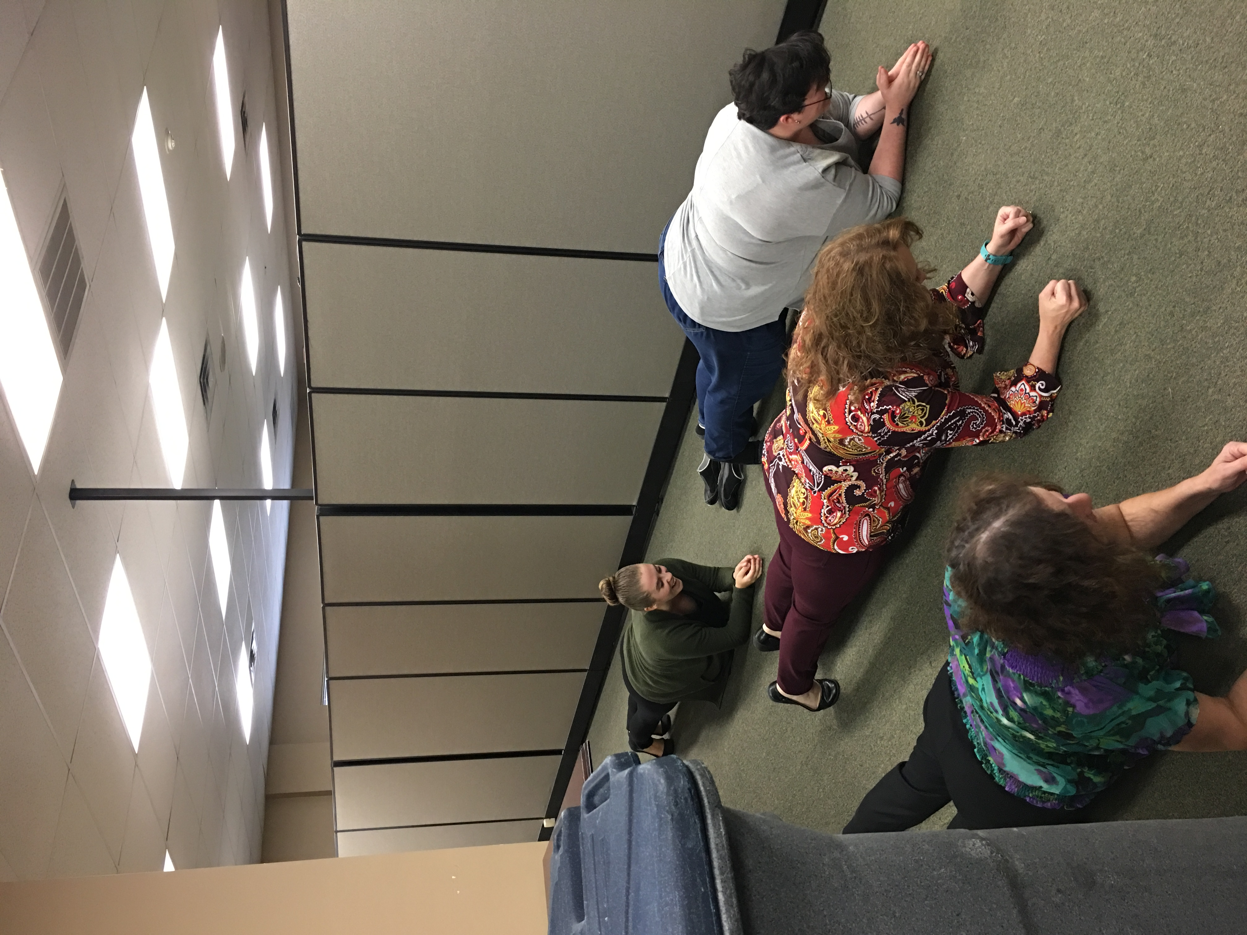DHS' Wellness Council hosted a Planksgiving Challenge in November. Participants planked and gave thanks! They started out doing a 20-second plank. By the end of the month, they were up to 3-minute planks.