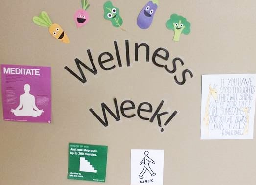 Thanks to the Department of Intellectual & Developmental Disabilities for this photo of their Wellness Week Wall.