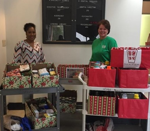 The DIDD West Regional Office collected food for Fayette Cares and household supplies for Door of Hope.