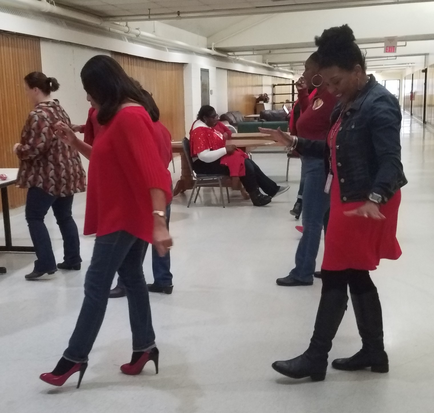 Employees at the West Regional Office took a heart-healthy physical activity break and danced.