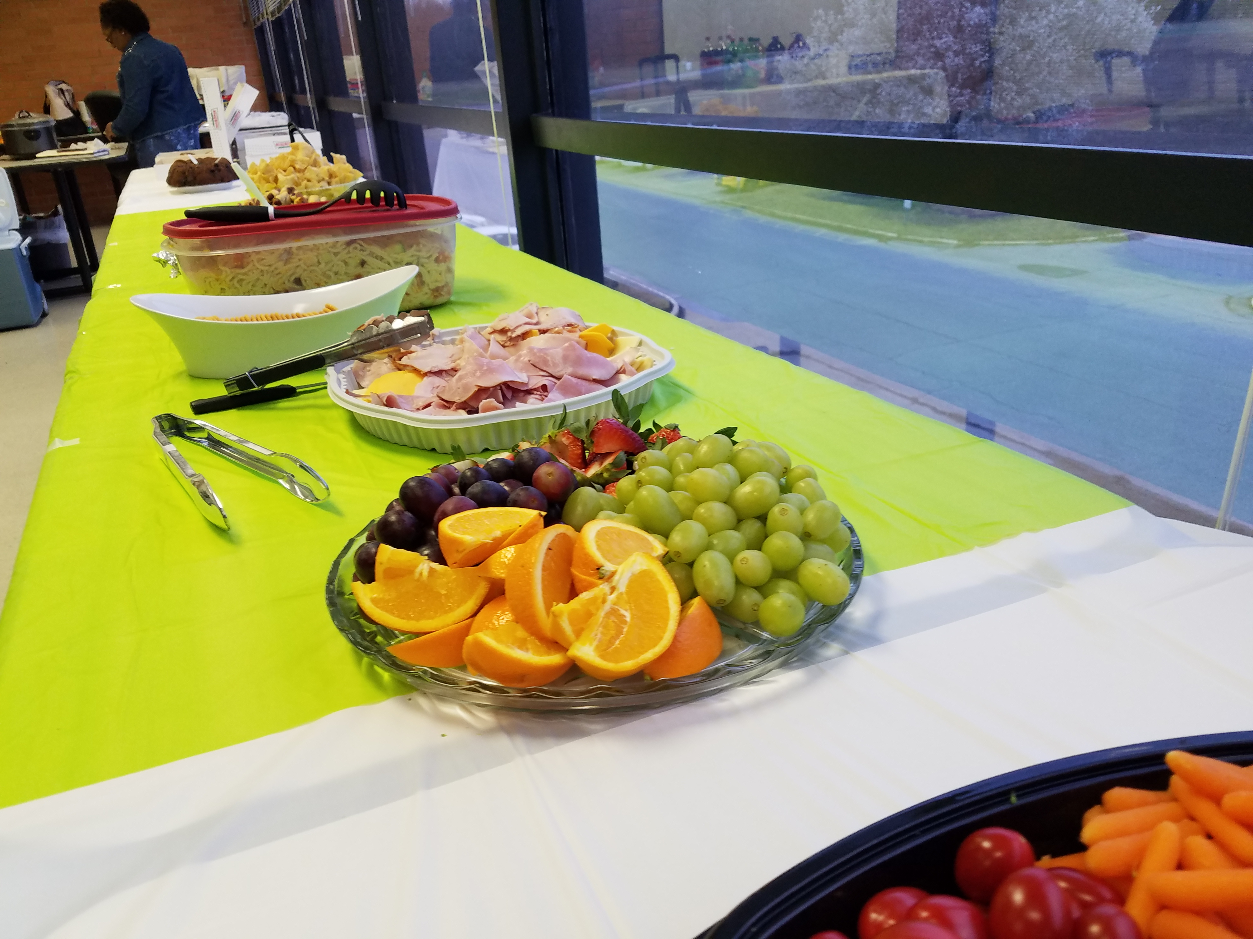 During Employee Appreciation Day, the DIDD West Regional Office served healthy snacks to approximately 90 employees.