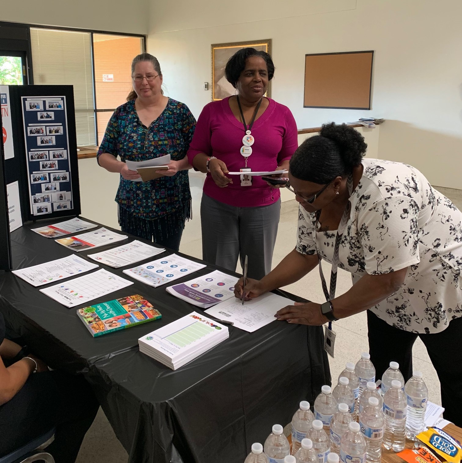 The DIDD West Regional Office hosted an informational wellness booth.