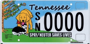 Animal Friendly Spay Neuter license plate