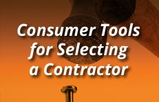 Consumer Tools for Selecting a Contractor
