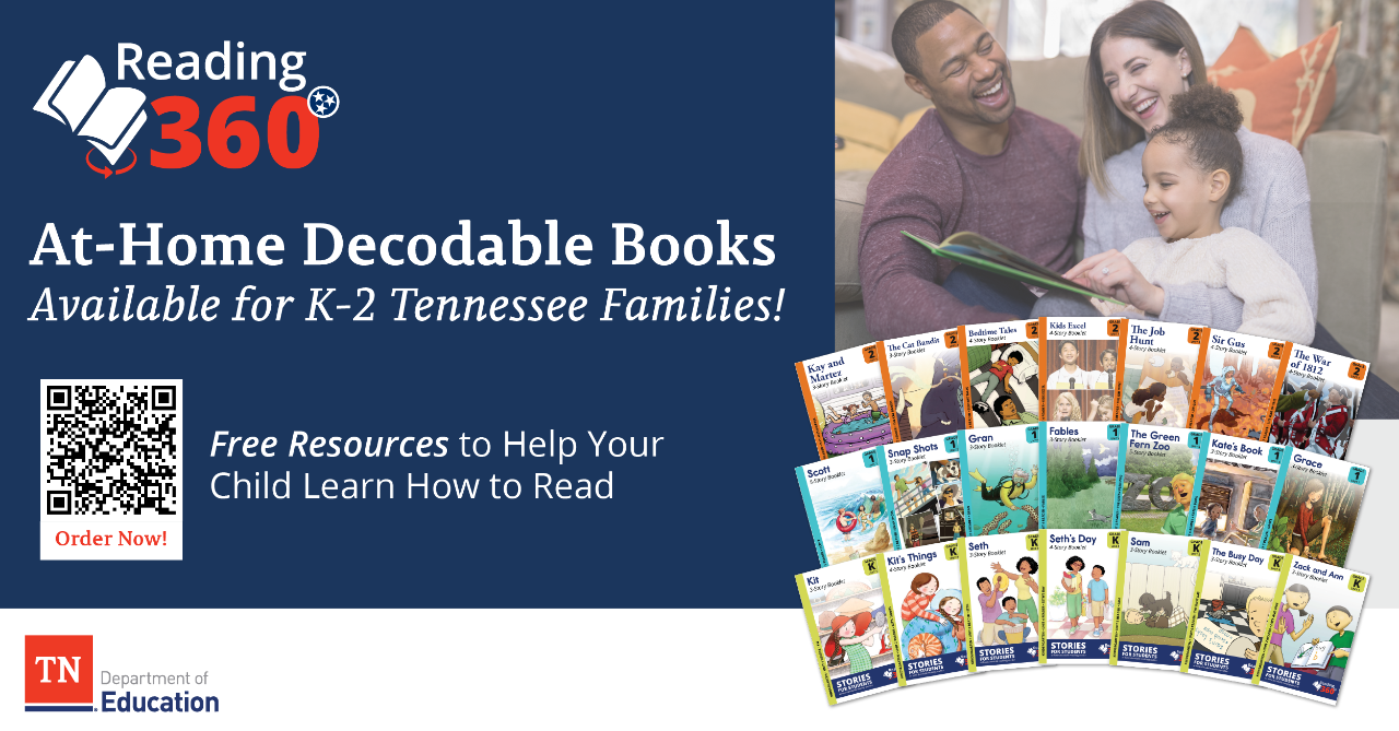 At-Home Decodable Books Available for All Tennessee Families