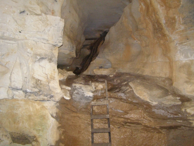 ladder to cave hike