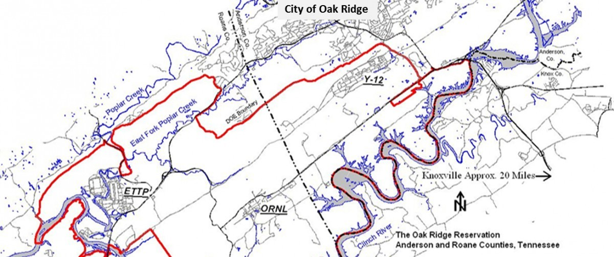 Oak Ridge Tennessee Map Oak Ridge Reservation Clean up