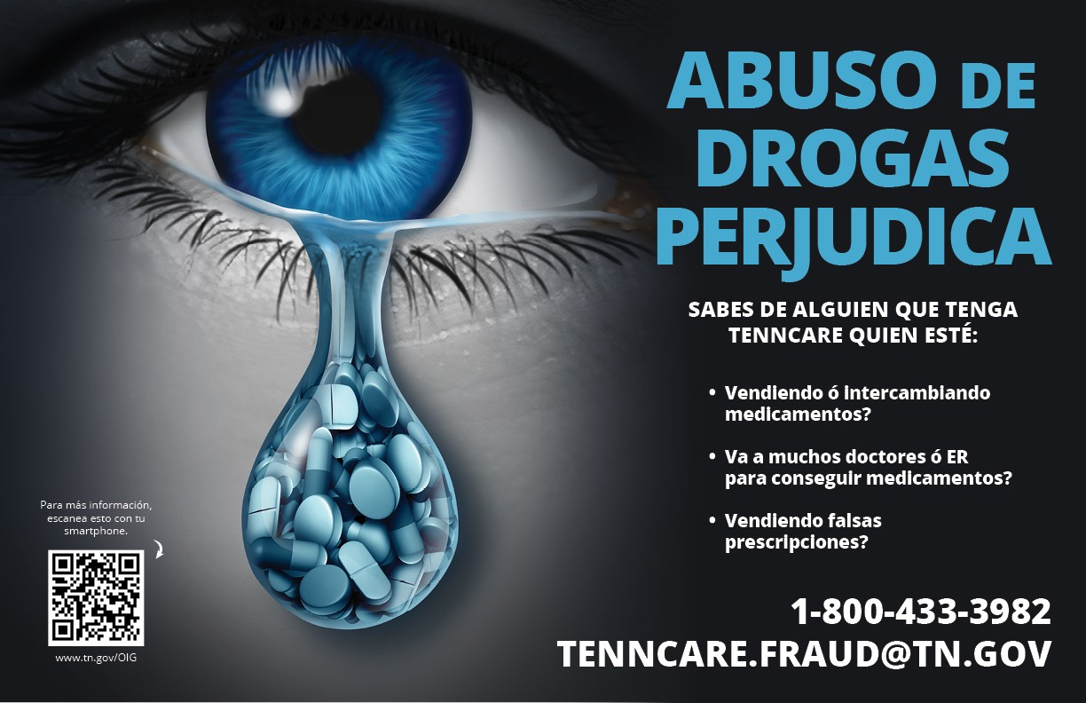 Drug abuse hurts graphic - spanish