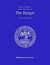 The Budget, Fiscal Year 2003-2004