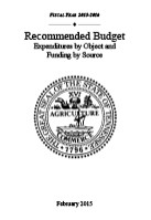 2014-2015 Budget Document, Expenditures by Object and Revenues by Source