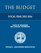 2014-2015 Budget Document, Volume II, Base Budget Reductions