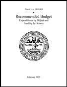 Expenditures by Object and Funding by Source, Fiscal Year 2017-2018 Cover