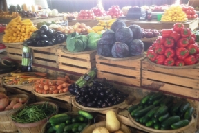 photo of fresh vegetables at a farmers market