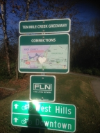photo of Ten Mile Creek Greenway sign