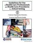 Guidelines for Health Professionals in a School Setting