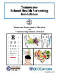 School Health Screening Guidelines cover page