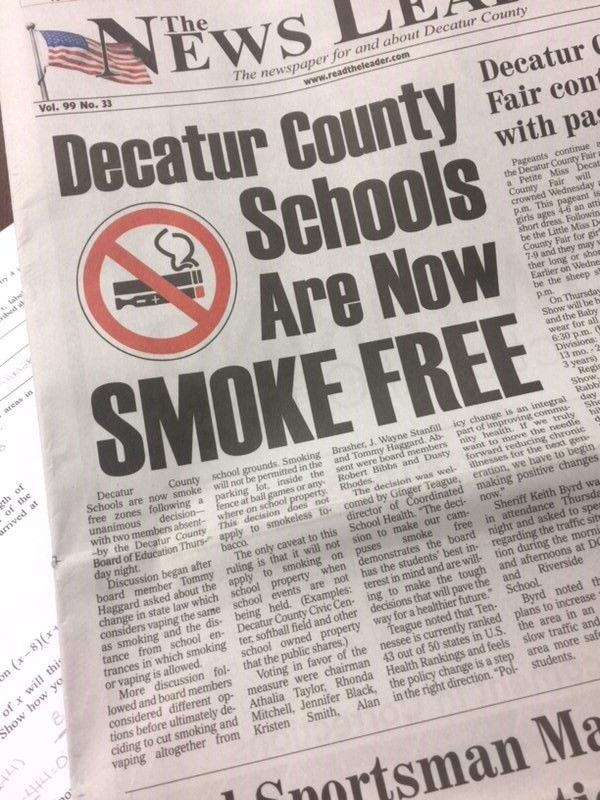 Decatur County Schools Smoke-Free