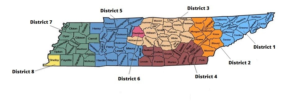 TDHS District Map