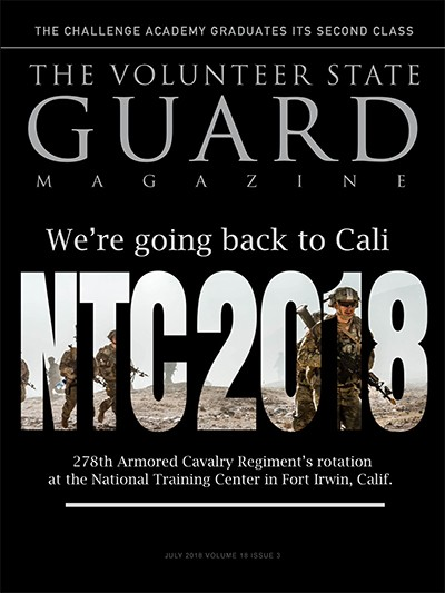 Image of Magazine Cover showing Soldiers at the National Training Center in California
