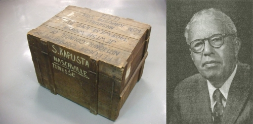 Holocaust Survivors' Crate and Mortimer May
