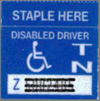 Disabled Driver - decal