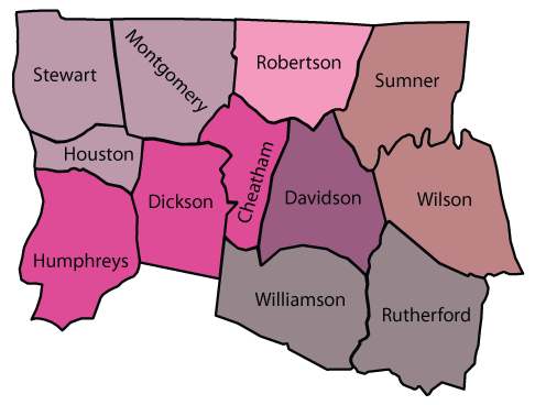 Map of District Three Counties