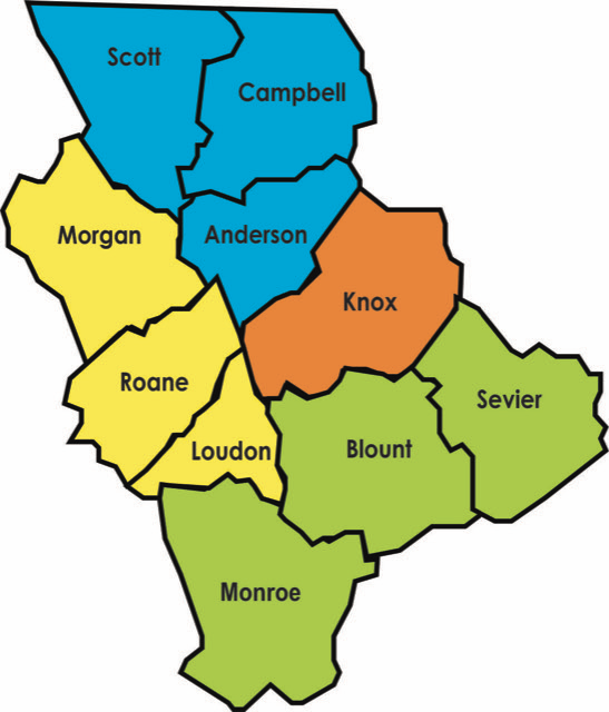 Map of District One Counties