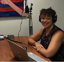 Jonquil Newland in TCCY podcast studio