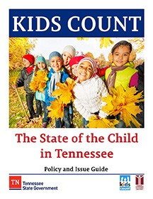 Cover of KIDS COUNT BOOK with children in fall scene