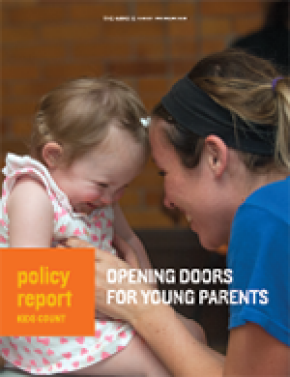 Child and Mother on cover of Kids Count Young Parent Policy Report